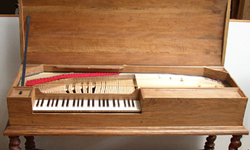 [Reconstruction of Mersenne's clavichord]